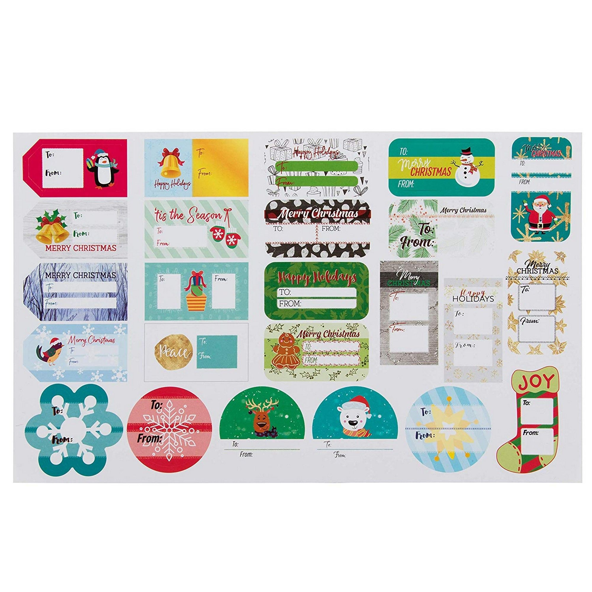Cualfec Christmas Gift Tag Stickers Glass Bottle Labels Natural Kraft Label Stickers for Christmas Gifts 2 x 3 Lots Room for DIY Candle Containers 2 Rolls Mason Jars Glass Bottles
