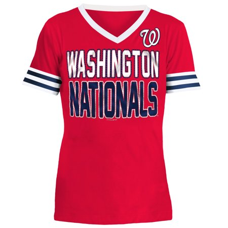info for 1193d a7912 Washington Nationals 5th & Ocean by New Era Youth Jersey T-Shirt with  Contrast Trim - Red - Walmart.com