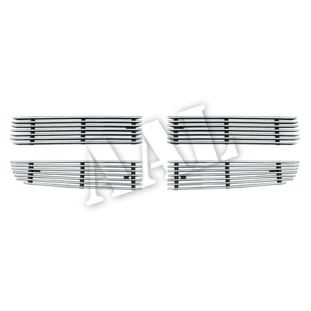 AAL BOLT ON / BOLT OVER BILLET GRILLE / GRILL INSERT For 2005 2006 2007 2008 2009 2010 DODGE CHARGER (For Honey-Comb Styled Shell) 4PCS UPPER BOLTON Insert Replaces Factory Grille Shell