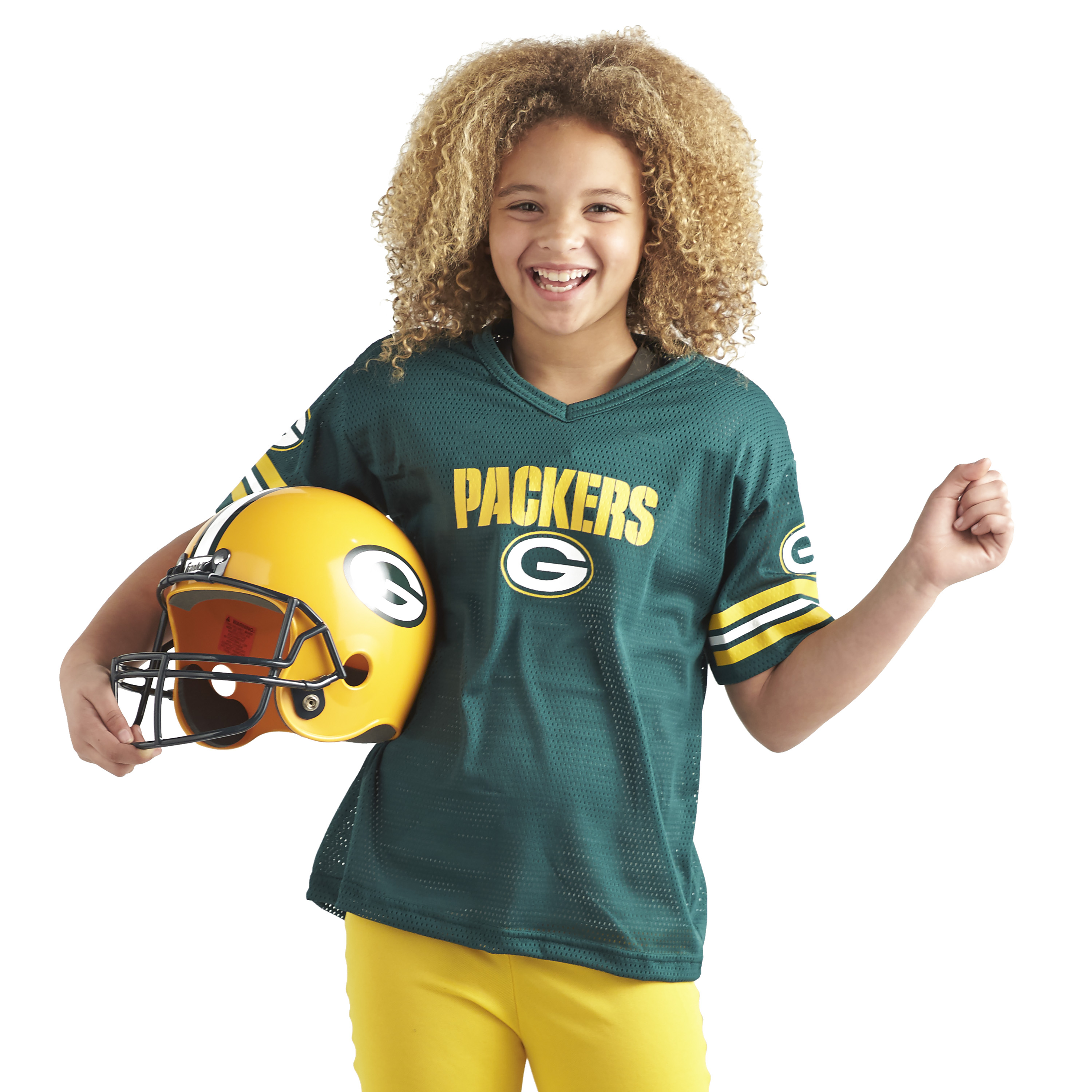 ce04274f Kids Green Bay Packers Costume Helmet NFL Football Youth Sports ...