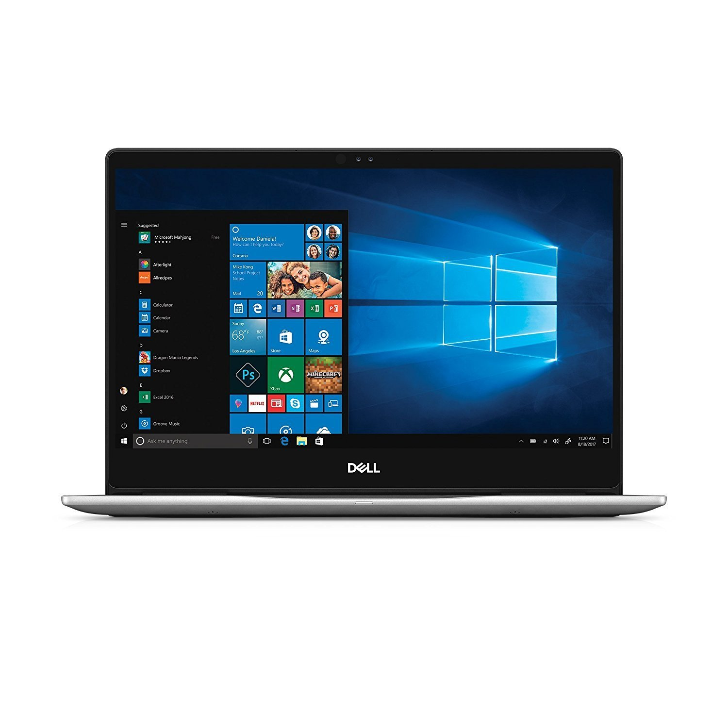 Dell Inspiron 13 7000 Laptop, Intel i5-8250U up to 2.5GHz, 8GB DDR4, 256GB SSD, 13.3 inch FHD Touch Screen, Backlit Keyboard