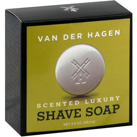 3 Pack - Van Der Hagen Men's Luxury Scented Soap 3.50 oz (Van Der Hagen Glycerin)
