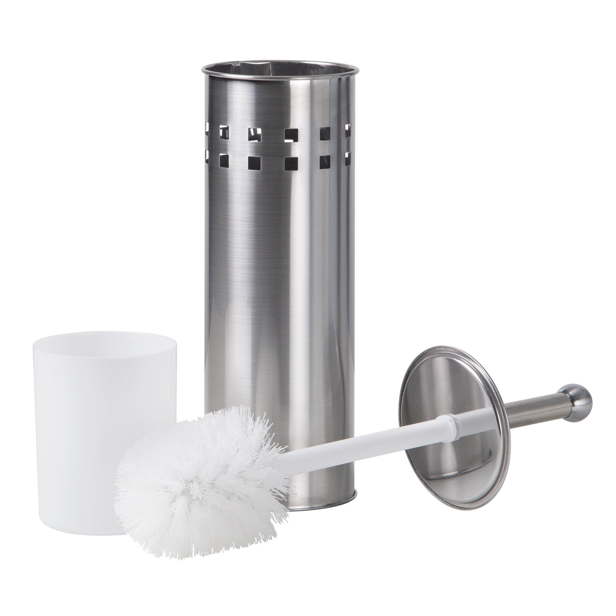 Toilet Brush Holder Vented Stainless Steel Bathroom Bowl