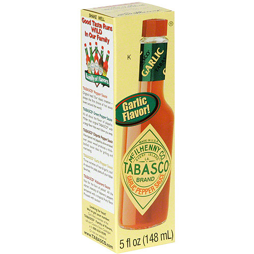 Tabasco Garlic Pepper Sauce, 5 oz (Pack of 12)