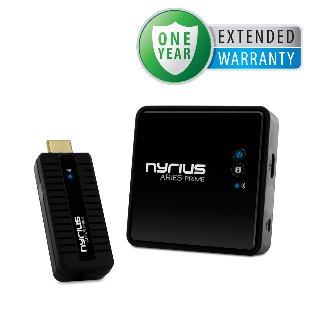 Nyrius ARIES Prime Wireless HD 1080p 3D Transmitter & Receiver System & 1 Year Extended Warranty