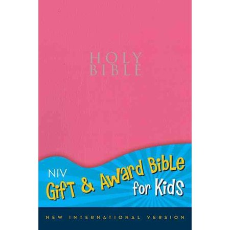 Holy Bible  New International Version  Pink  Leather Look  Gift   Award Bible For Kids
