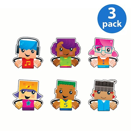 (3 Pack) Trend, TEP10850, BlockStars Clips Mini Accents Variety Pack, 36 / Pack, Assorted
