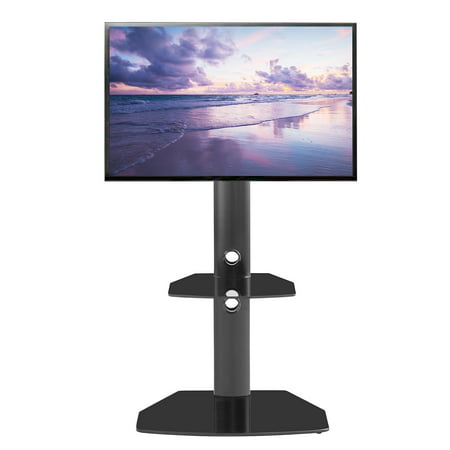 TV Stand for 55 inch TV, Mobile TV Cart with Wheels for 23-55 Inch LCD LED 4K Flat Curved Screen TVs