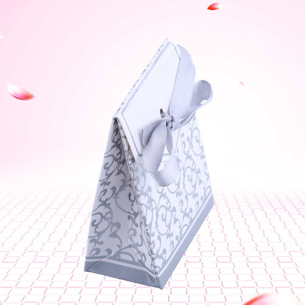 2 Colors 10PCS Elegant Wedding Party Favor Gift Candy Boxes Paper Bags Ribbon Type Hot Sale, Wedding Candy box, Candy Gift Box
