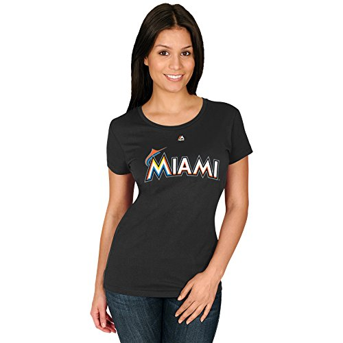 Giancarlo Stanton Miami Marlins #27 MLB Women's Player T-Shirt (XXlarge)