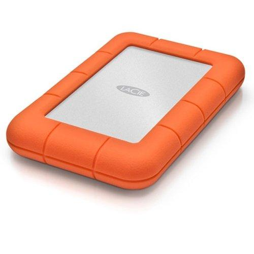 LaCie 2TB Rugged Mini Portable External Hard Drive, 5400 RPM, USB 3.0/2.0, Up to 5Gbps USB 3.0 Transfer Rate, Orange