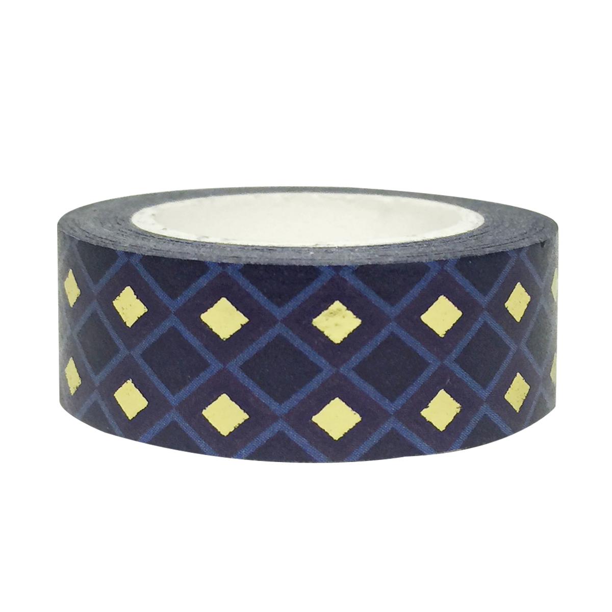 Wrapables® Colorful Washi Masking Tape, Midnight Passion Diamonds