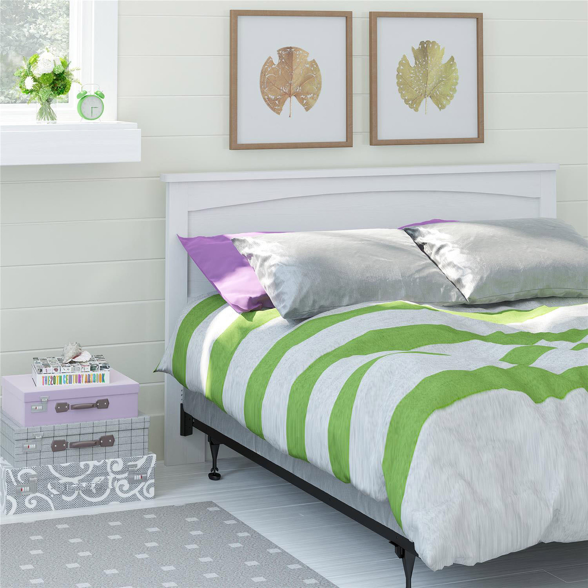 Zoom Room Bed Reviews Ameriwood Full Queen Headboard Federal White Walmartcom
