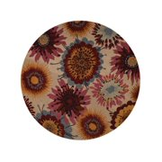 Transitional Floral Hand-Tufted Oushak Oriental 10 ft Round Area Rug