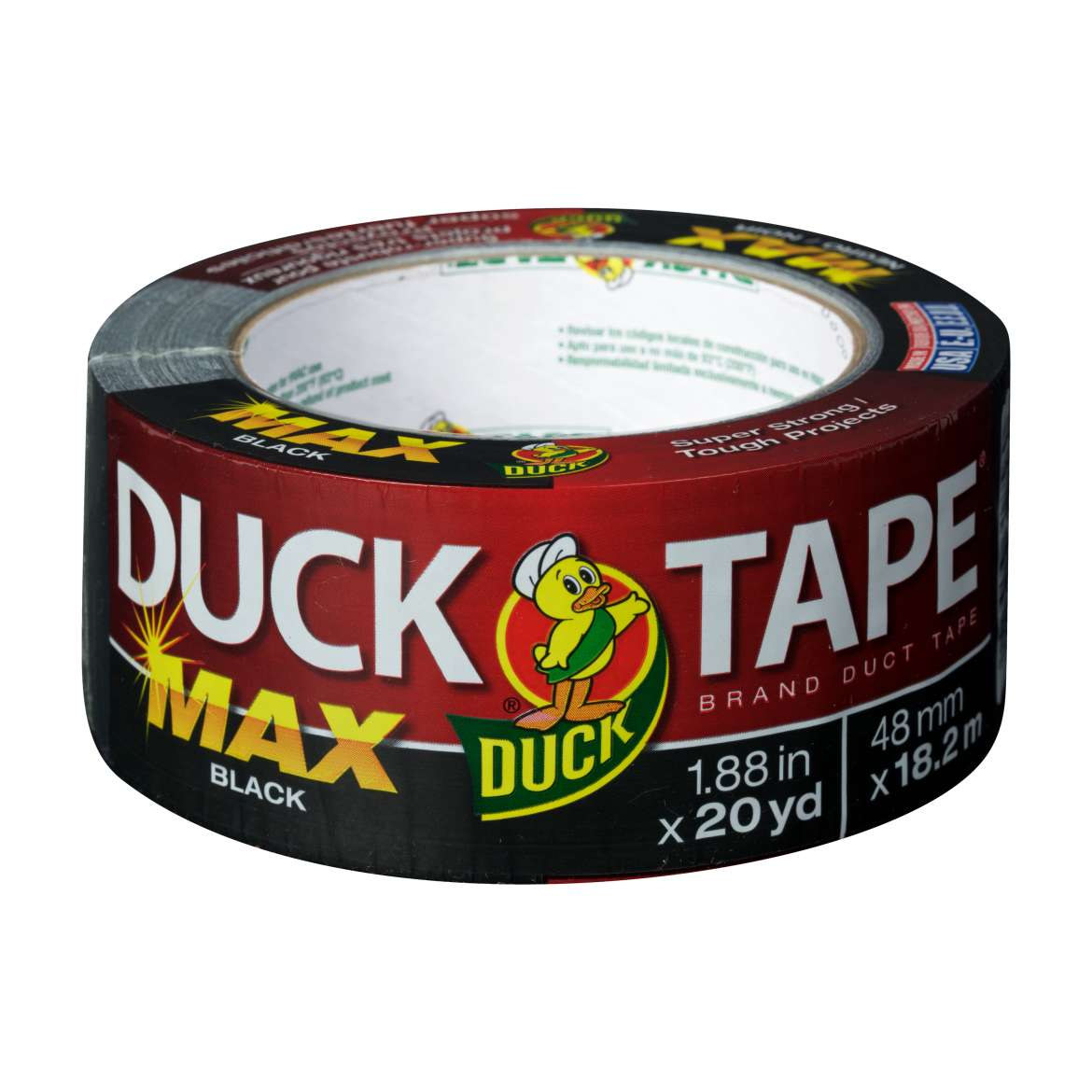 Duck Brand MAX Strength Duct Tape, 1.88 in. x 20 yds., Black