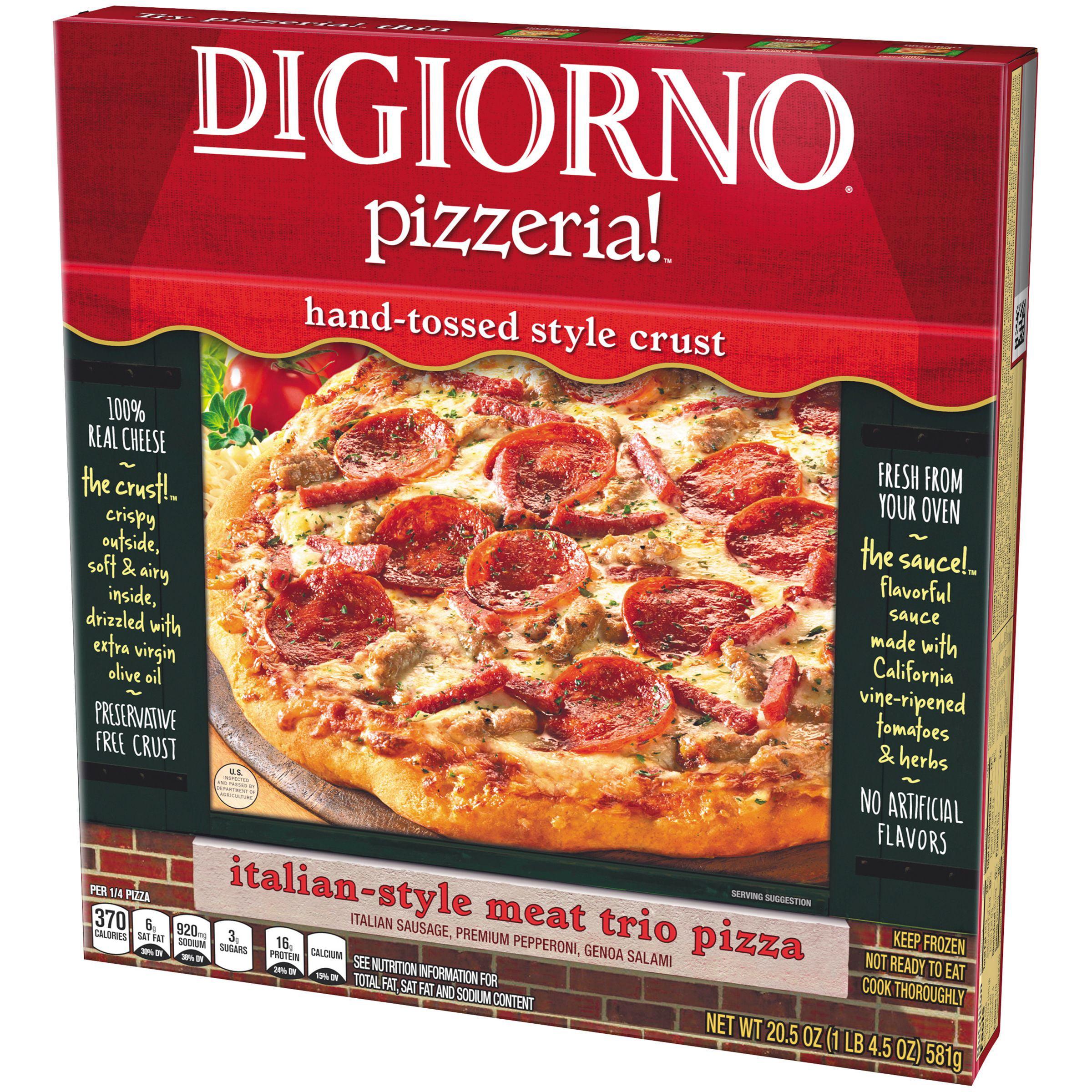 Digiorno Frozen Pizza digiorno pizzeria! italian style meat trio pizza 20.5 oz. box