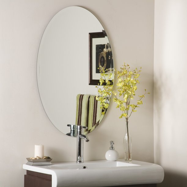 Large 24 X 36 Oval Bathroom Helmer, Large Oval Mirror Bathroom