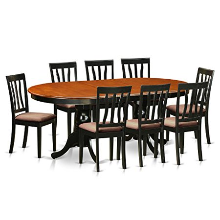 plan9 bch c 9 pc dining room set dining table with 8 solid wood dining