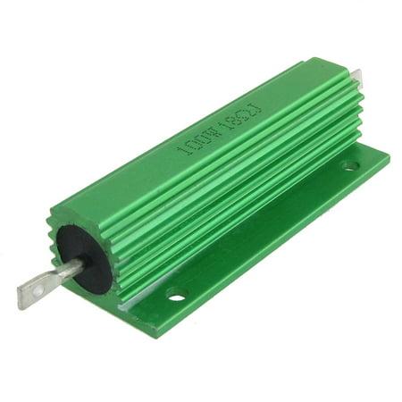 Light Resistor (Unique Bargains Unique Bargains 2pcs 100W 18 Ohm 5% Chassis Mounted Aluminum Clad Resistors Green )