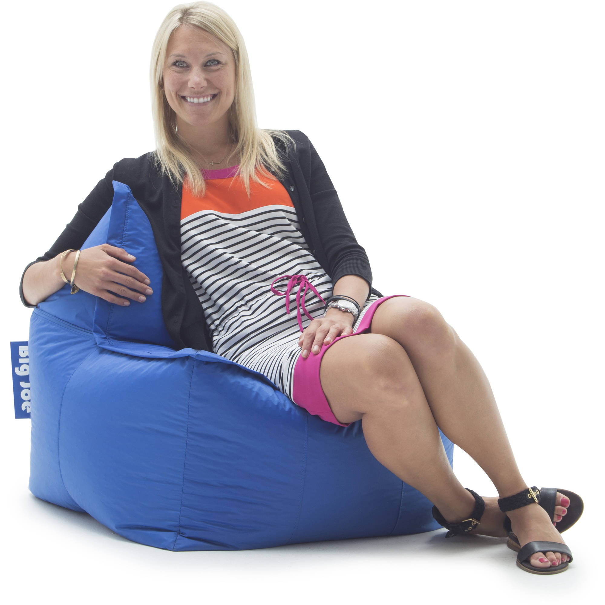 Big Joe Zip It! Square Bean Bag Chair, Multiple Colors
