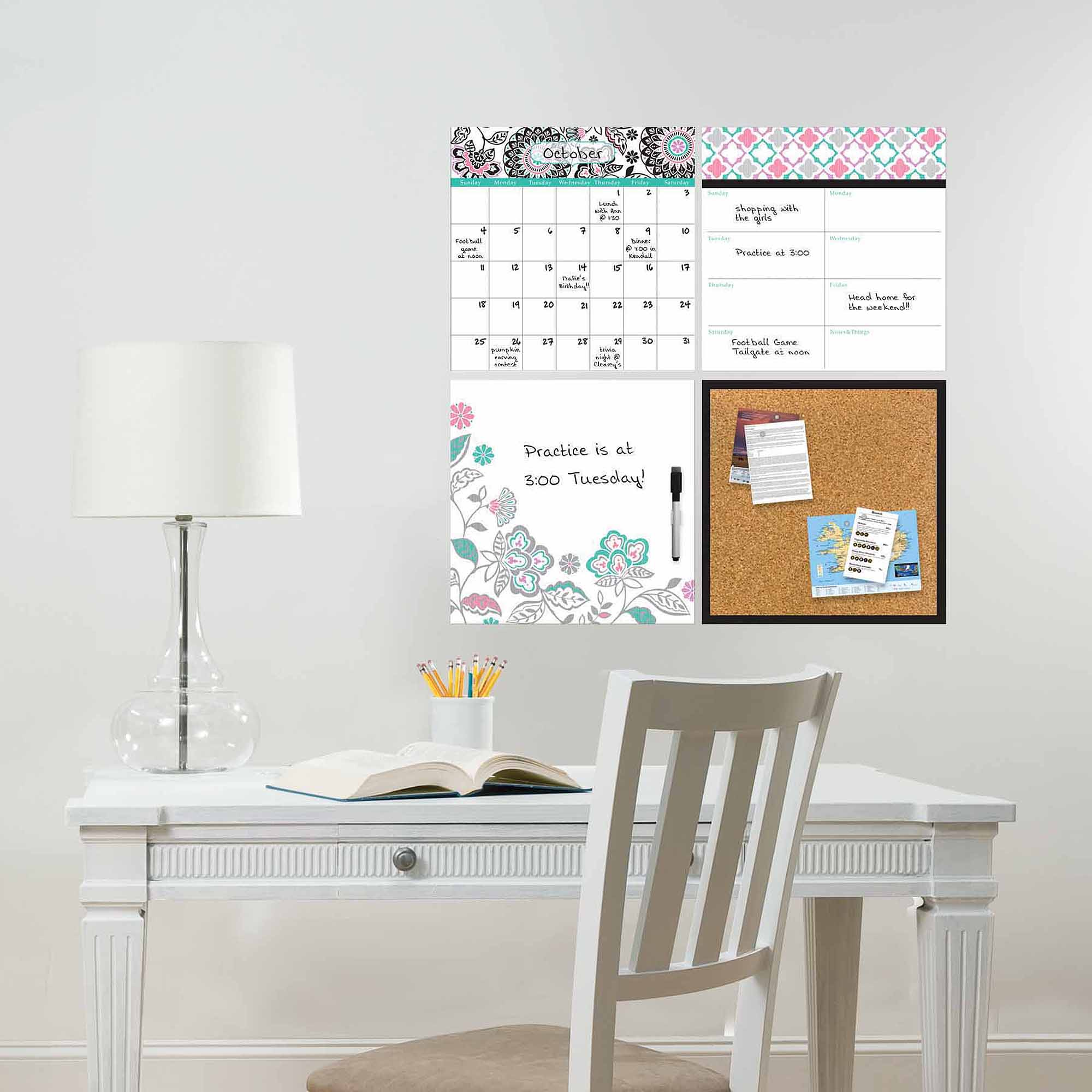 WallPops Floral Medley Organizer Decals Kit
