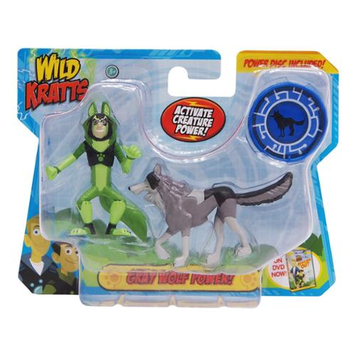 Wicked Cool Toys Wild Kratts Animal Power 2-Pack Figure Set: Gray Wolf Power