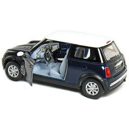 5 Kinsmart Mini Cooper Diecast Model Toy Car 1 28 Pull Action Blue