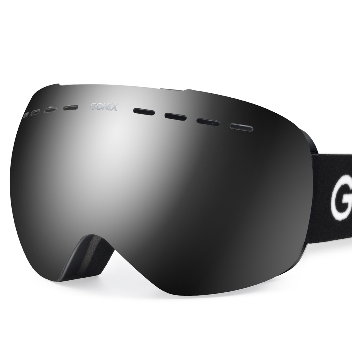 Gonex Ski Goggles OTG Anti-fog Windproof UV Protection Snowboard Goggles with Double Spherical Lens for Skiing by Gonex