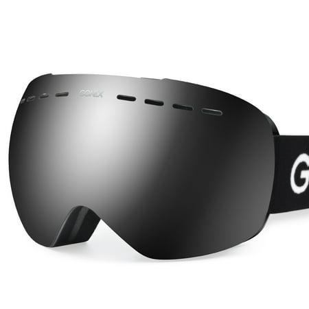 2013 Snowboard Goggles - Gonex Ski Goggles OTG Anti-fog Windproof UV Protection Snowboard Goggles with Box for Men & Women