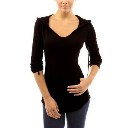 Women Pocket Hoody Hoodie Long Sleeve Slim Sweatshirt Pullover Jumper Coat Tops