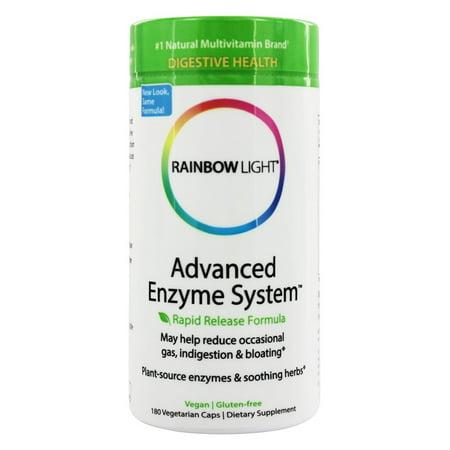 rainbow light advanced enzyme system 180 vegetarian capsules. Black Bedroom Furniture Sets. Home Design Ideas