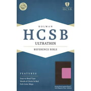 HCSB Ultrathin Reference Bible, Brown/Pink LeatherTouch with Magnetic Flap Indexed