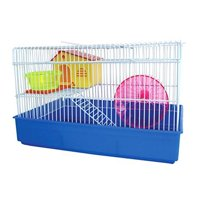 YML AH810BL 2 Level Hamster Cage, Blue