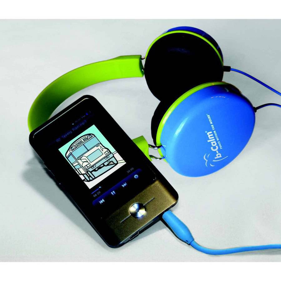 Image of b-Calm PRO Auditory Listening System, Includes 2 Sets Headphones, USB Cable, Case, CD and Pictures