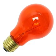 General 13040 - 40A/TA 130V TA Standard Transparent Colored Light Bulb