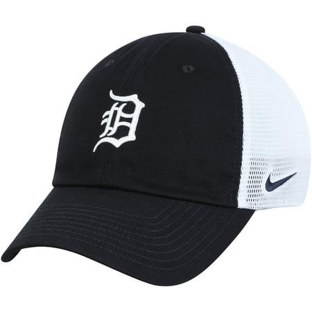 Detroit Tigers Nike Heritage 86 Team Trucker Adjustable Hat - Navy/White - (Nike Running Hat)