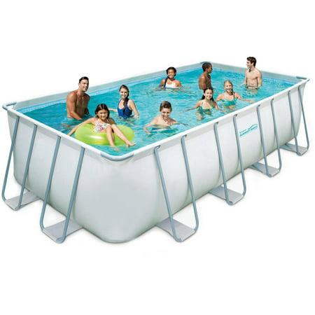 Summer Waves Elite 18 39 X 9 39 X 48 Rectangular Premium Metal Frame Above Ground Swimming Pool