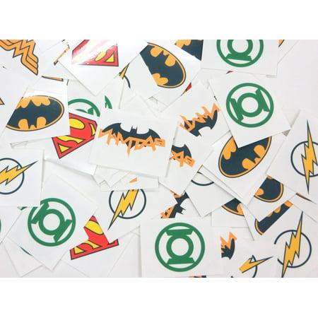 Batman Logo Tattoo (DC Superhero Logos Temporary Tattoos Made in USA (72 Per)