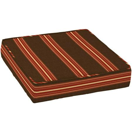 Better homes and gardens outdoor deep seat seat cushion ribbon stripe for Better homes and gardens deep seat cushion