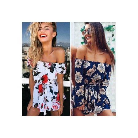 70fcb941d4 DAYUE - New Women Summer Beach Jumpsuit Clubwear Bodycon Playsuit Romper  Hot Short Pants 46ZDCP6792 - Walmart.com