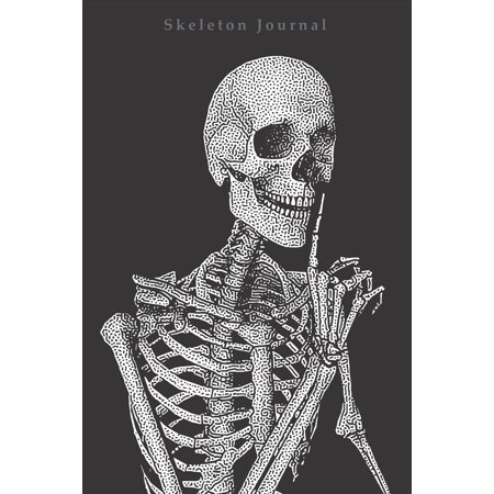 Skeleton journal : Notebook 120 pages College rulled lines for notes or journaling 6 x 9 inches (Live Notebook)
