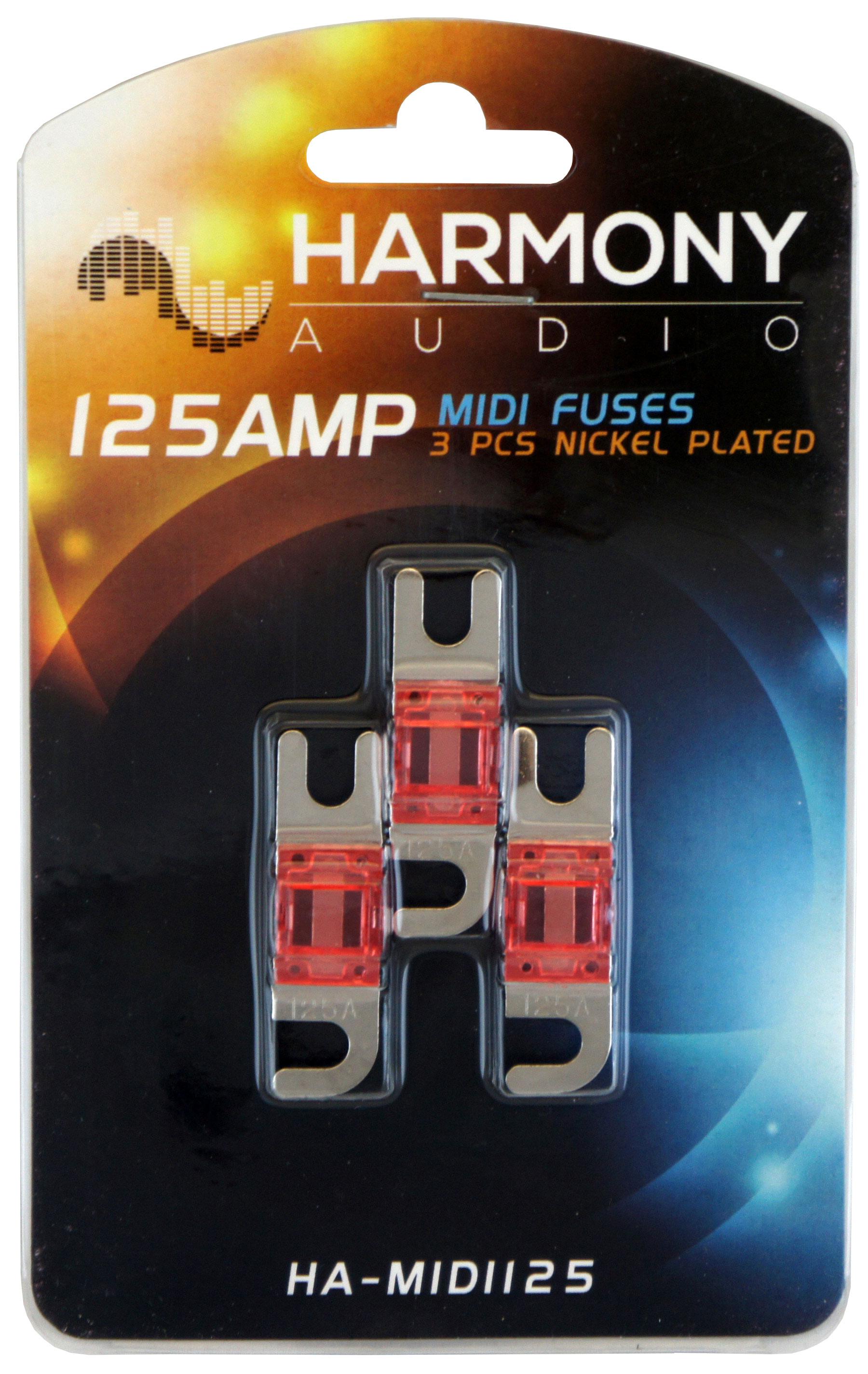 Harmony Audio HA-MIDIFH Car Marine Stereo Mini ANL MIDI Fuseholder 125 Amp Fuses