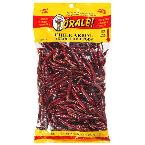 Orale Very Hot Arbol Family Pack Chili Pods, 8 oz