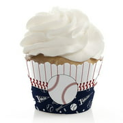 Batter Up - Baseball - Baby Shower or Birthday Party Cupcake Wrappers - Set of 12