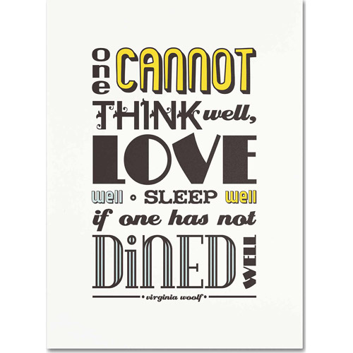 "Trademark Fine Art ""Dined Well I"" Canvas Art by Megan Romo"