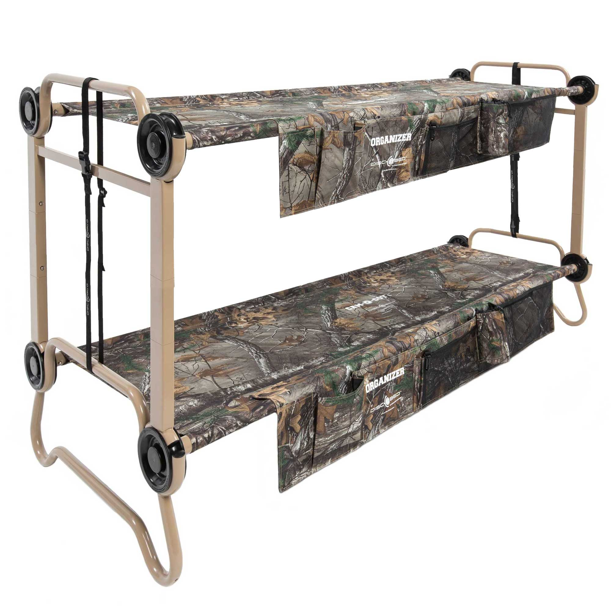 Disc O Bed Large Realtree Cam O Bunk Cot With Organizers 7 Inch