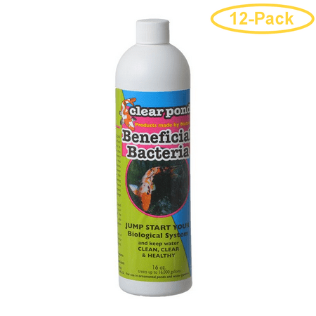 Clear Pond Live Beneficial Bacteria Formula 16 oz - Pack of 12
