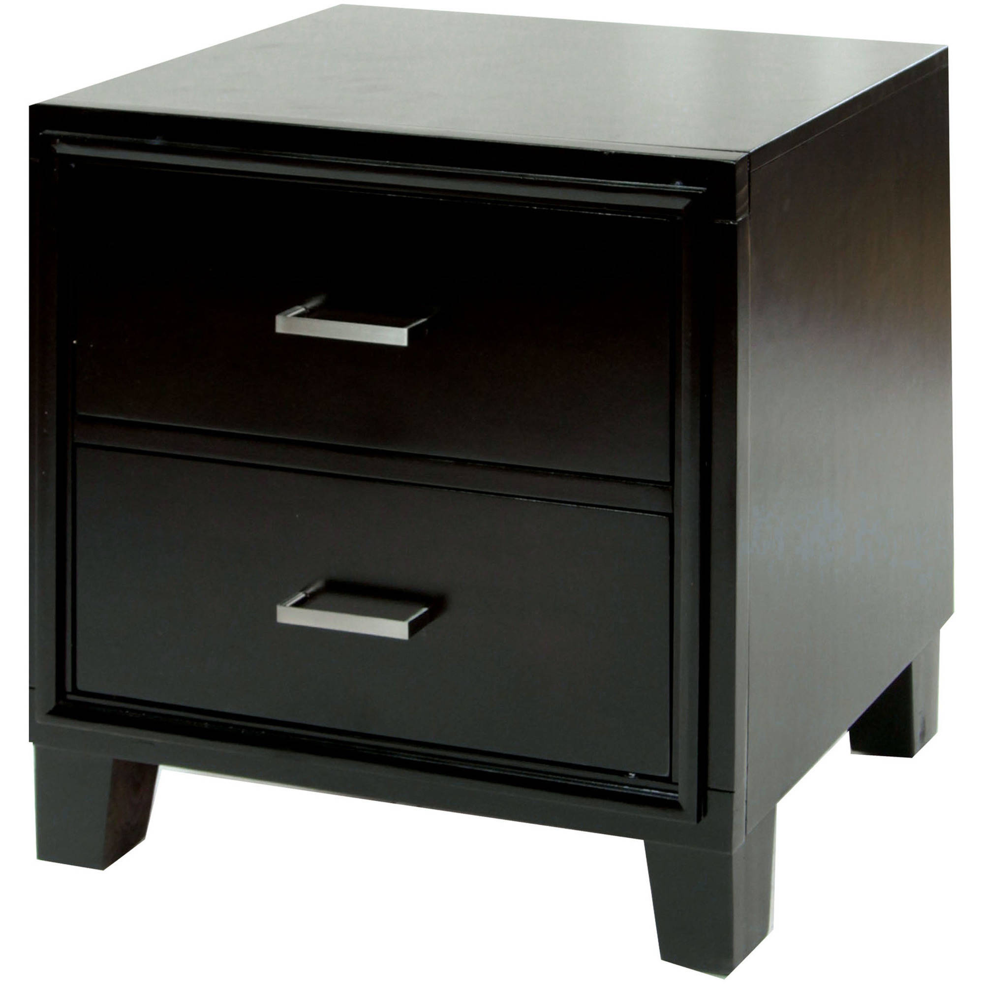Furniture of America Kate Contemporary 2-Drawer Nightstand, Espresso