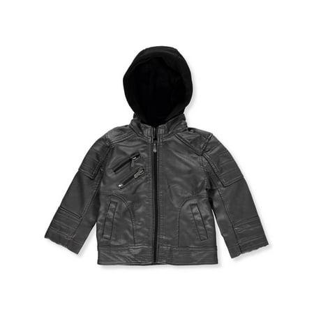 Urban Republic Baby Boys' Hooded Moto Jacket (Urban Moto Jacket)