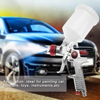 YLSHRF Professional 1.4mm Nozzle 600ml Gravity Type Pneumatic Spray Gun For Car Painting , Air Spray Gun, Spray gun for painting